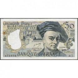 F 67-01 - 1976 - 50 francs - Quentin de la Tour - Série D.1 - Etat : TTB-
