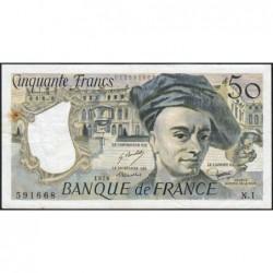 F 67-01 - 1976 - 50 francs - Quentin de la Tour - Série N.1 - Etat : TTB