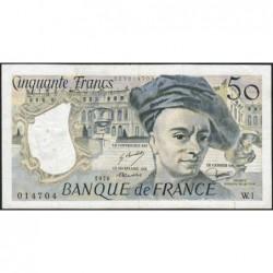F 67-01 - 1976 - 50 francs - Quentin de la Tour - Série W.1 - Remplacement - Etat : TTB