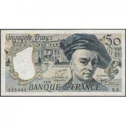 F 67-01 - 1976 - 50 francs - Quentin de la Tour - Série X.2 - Etat : TB+