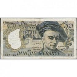 F 67-01 - 1976 - 50 francs - Quentin de la Tour - Série N.3 - Etat : TB-