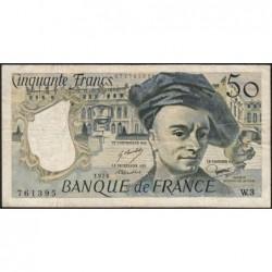 F 67-01 - 1976 - 50 francs - Quentin de la Tour - Série W.3 - Remplacement - Etat : TB