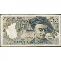 F 67-01 - 1976 - 50 francs - Quentin de la Tour - Série Z.3 - Etat : TB