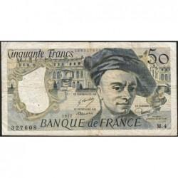 F 67-02 - 1977 - 50 francs - Quentin de la Tour - Série M.4 - Etat : TB-