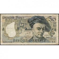 F 67-02 - 1977 - 50 francs - Quentin de la Tour - Série V.5 - Etat : B+