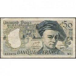 F 67-02 - 1977 - 50 francs - Quentin de la Tour - Série W.5 - Remplacement - Etat : TB-