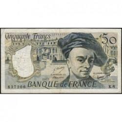 F 67-02 - 1977 - 50 francs - Quentin de la Tour - Série K.6 - Etat : TB