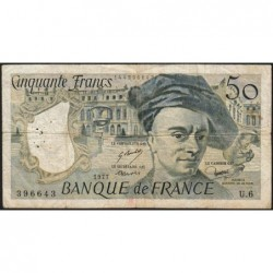 F 67-02 - 1977 - 50 francs - Quentin de la Tour - Série U.6 - Etat : TB-