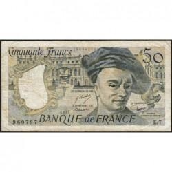 F 67-02 - 1977 - 50 francs - Quentin de la Tour - Série E.7 - Etat : TB-