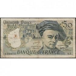 F 67-02 - 1977 - 50 francs - Quentin de la Tour - Série T.7 - Etat : TB-