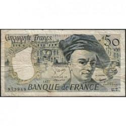 F 67-02 - 1977 - 50 francs - Quentin de la Tour - Série U.7 - Etat : B+