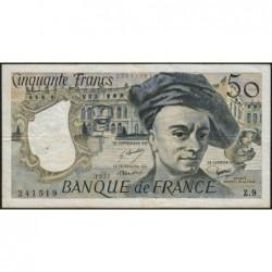 F 67-02 - 1977 - 50 francs - Quentin de la Tour - Série Z.9 - Etat : TTB-