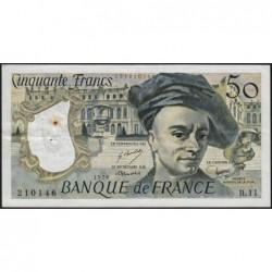 F 67-03 - 1978 - 50 francs - Quentin de la Tour - Série B.11 - Etat : TTB-