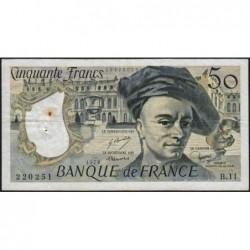 F 67-03 - 1978 - 50 francs - Quentin de la Tour - Série B.11 - Etat : TB+