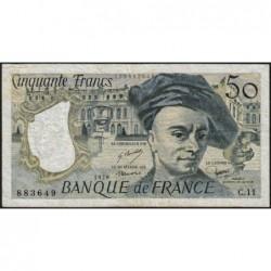 F 67-03 - 1978 - 50 francs - Quentin de la Tour - Série C.11 - Etat : TB-