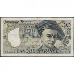 F 67-03 - 1978 - 50 francs - Quentin de la Tour - Série H.12 - Etat : TB-