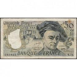 F 67-03 - 1978 - 50 francs - Quentin de la Tour - Série K.12 - Etat : TB-