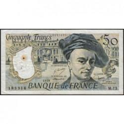 F 67-03 - 1978 - 50 francs - Quentin de la Tour - Série M.13 - Etat : TB-