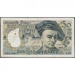 F 67-03 - 1978 - 50 francs - Quentin de la Tour - Série Z.13 - Etat : TB-