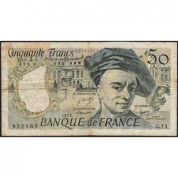 F 67-04 - 1979 - 50 francs - Quentin de la Tour - Série G.14 - Etat : B+