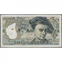 F 67-04 - 1979 - 50 francs - Quentin de la Tour - Série P.14 - Etat : TB+