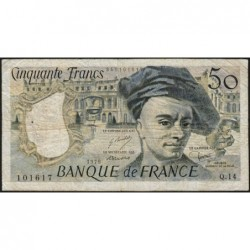 F 67-04 - 1979 - 50 francs - Quentin de la Tour - Série Q.14 - Etat : TB-