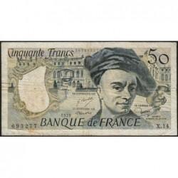 F 67-04 - 1979 - 50 francs - Quentin de la Tour - Série X.14 - Etat : B+