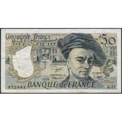 F 67-05 - 1979 - 50 francs - Quentin de la Tour - Série A.17 - Etat : TB+