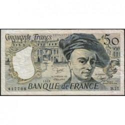 F 67-05 - 1979 - 50 francs - Quentin de la Tour - Série B.17 - Etat : TB-