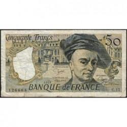 F 67-05 - 1979 - 50 francs - Quentin de la Tour - Série C.17 - Etat : TB-
