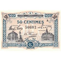 Limoges - Pirot 73-20 - 50 centimes - Série A - Sans date - Etat : NEUF