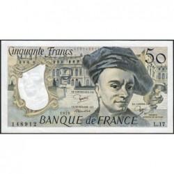 F 67-05 - 1979 - 50 francs - Quentin de la Tour - Série L.17 - Etat : SPL+