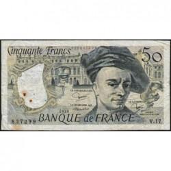 F 67-05 - 1979 - 50 francs - Quentin de la Tour - Série V.17 - Etat : B+