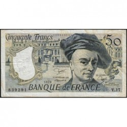 F 67-05 - 1979 - 50 francs - Quentin de la Tour - Série V.17 - Etat : TB