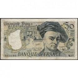 F 67-05 - 1979 - 50 francs - Quentin de la Tour - Série W.17 - Remplacement - Etat : B+