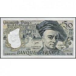 F 67-06 - 1980 - 50 francs - Quentin de la Tour - Série O.18 - Etat : TTB+