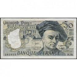 F 67-06 - 1980 - 50 francs - Quentin de la Tour - Série P.18 - Etat : TB