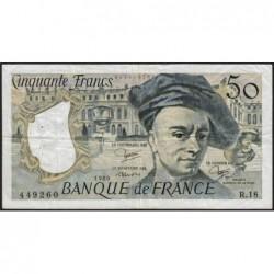 F 67-06 - 1980 - 50 francs - Quentin de la Tour - Série R.18 - Etat : TTB-