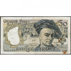 F 67-06 - 1980 - 50 francs - Quentin de la Tour - Série C.19 - Etat : TB-