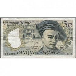 F 67-06 - 1980 - 50 francs - Quentin de la Tour - Série C.19 - Etat : TB