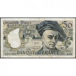 F 67-06 - 1980 - 50 francs - Quentin de la Tour - Série E.19 - Etat : TB