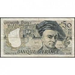 F 67-06 - 1980 - 50 francs - Quentin de la Tour - Série J.19 - Etat : TB-