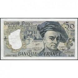 F 67-06 - 1980 - 50 francs - Quentin de la Tour - Série A.20 - Etat : TTB