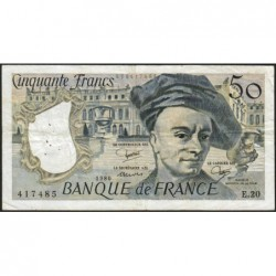 F 67-06 - 1980 - 50 francs - Quentin de la Tour - Série E.20 - Etat : TTB-