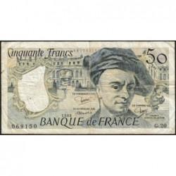 F 67-06 - 1980 - 50 francs - Quentin de la Tour - Série G.20 - Etat : TB-