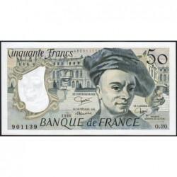 F 67-06 - 1980 - 50 francs - Quentin de la Tour - Série O.20 - Etat : NEUF