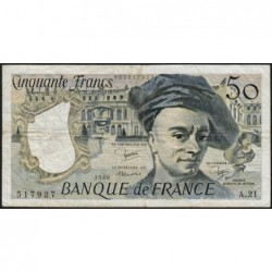 F 67-06 - 1980 - 50 francs - Quentin de la Tour - Série A.21 - Etat : TB