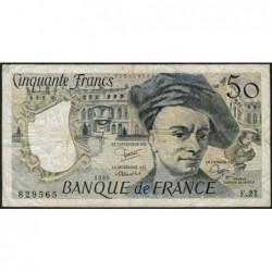 F 67-06 - 1980 - 50 francs - Quentin de la Tour - Série F.21 - Etat : TB-