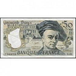 F 67-06 - 1980 - 50 francs - Quentin de la Tour - Série U.21 - Etat : TB+