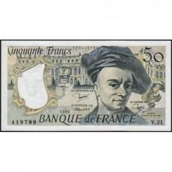 F 67-06 - 1980 - 50 francs - Quentin de la Tour - Série V.21 - Etat : SUP
